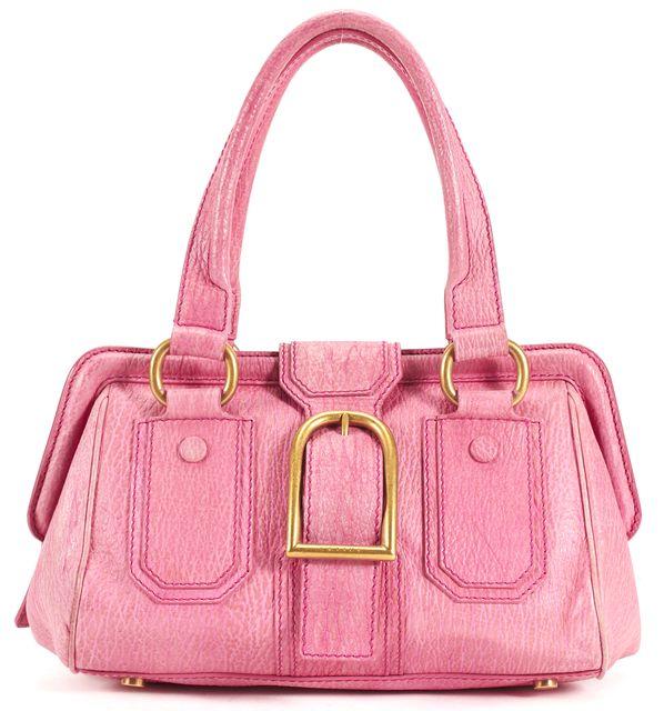 CÉLINE Vintage Pink Leather Gold Hardware Shoulder Bag