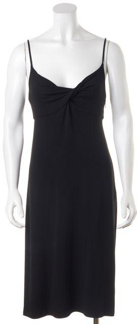 CÉLINE Black Empire Waist Embellished Low Back Sheath Dress