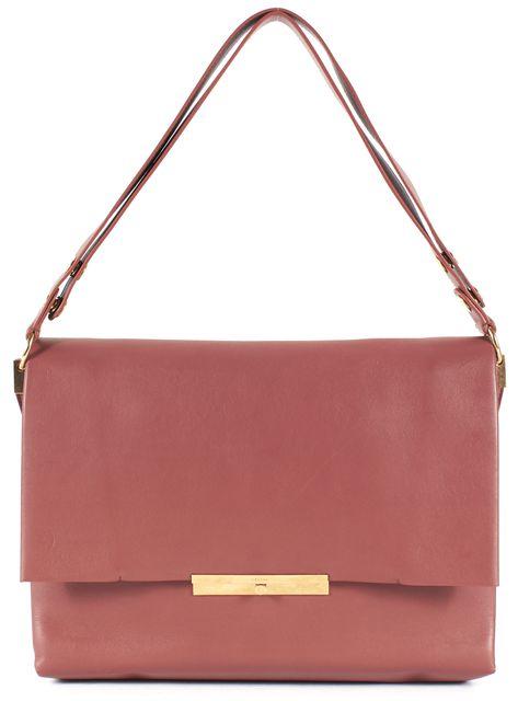 CÉLINE Brown Calfskin Leather Sienna Flap Shoulder Bag