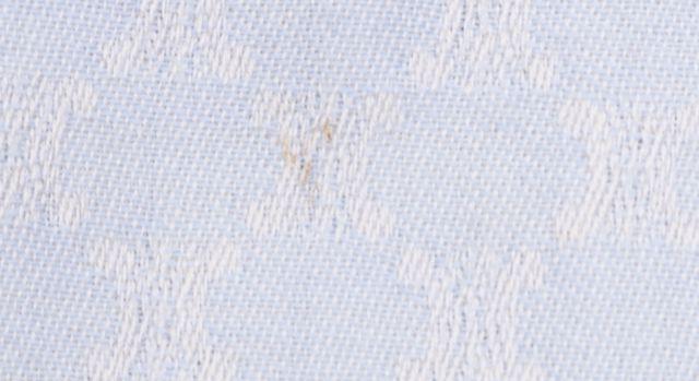 CÉLINE Sky Blue White Textured 100% Wool Scarf