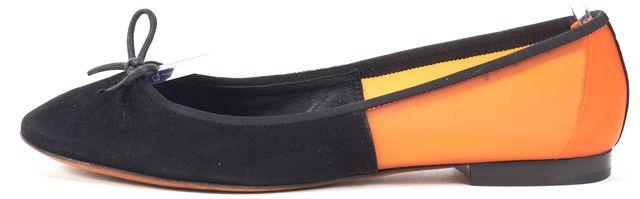 CÉLINE Black Orange PVC Suede Ballet Flats