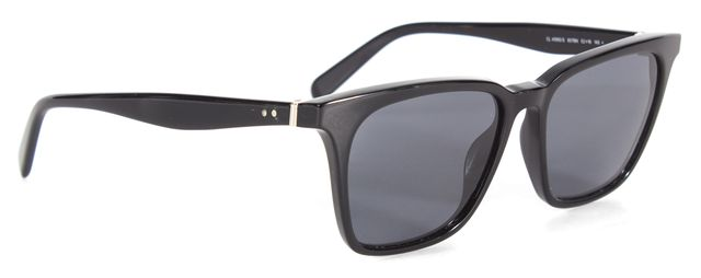 CÉLINE Solid Black Square Acetate Square Sunglasses