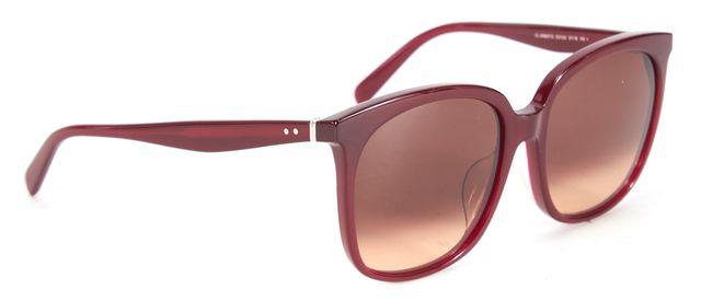 CÉLINE Raspberry Red Acetate Gradient Lens Square Sunglasses w/ Case