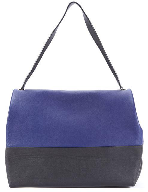 CÉLINE Blue Colorblock Leather Shoulder Bag Handbag