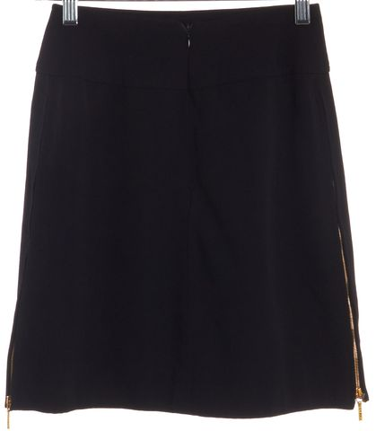 CHANEL '95 Spring Black Wool A-Line Skirt