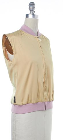 CHANEL S/S 1999 Ivory Pink Sleeveless Bomber Vest
