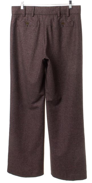 CHANEL Pink Black Wool Knit Trouser Pants