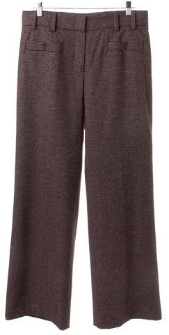 CHANEL Pink Black Wool Knit Trouser Pants