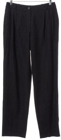 CHANEL Gray Wool Trousers Pants