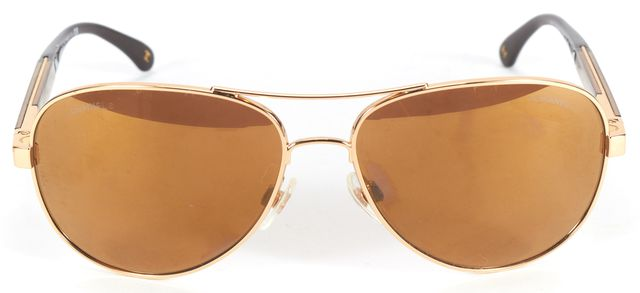 CHANEL Gold Mirrored Aviator Sunglasses