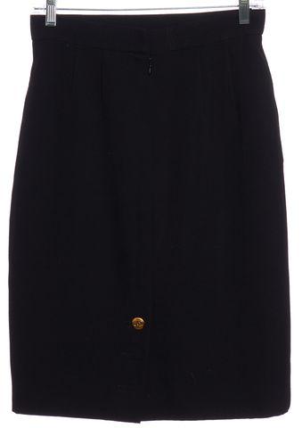 CHANEL Black Pencil Skirt