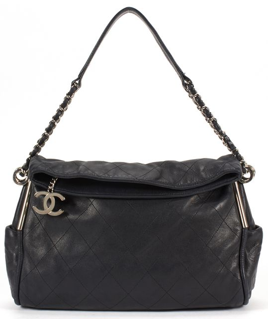 CHANEL Black Quilted Leather Ultimate Soft Hobo Shoulder Bag