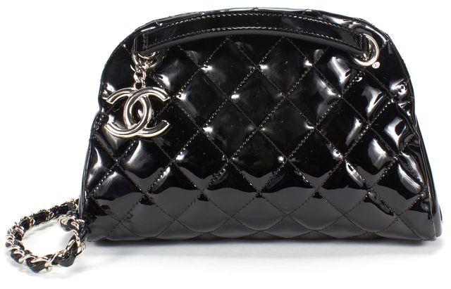 CHANEL Black Quilted Leather Mini Bowler Shoulder Bag