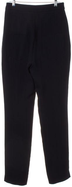 CHANEL 2007 Fall Navy Blue Silk Pants