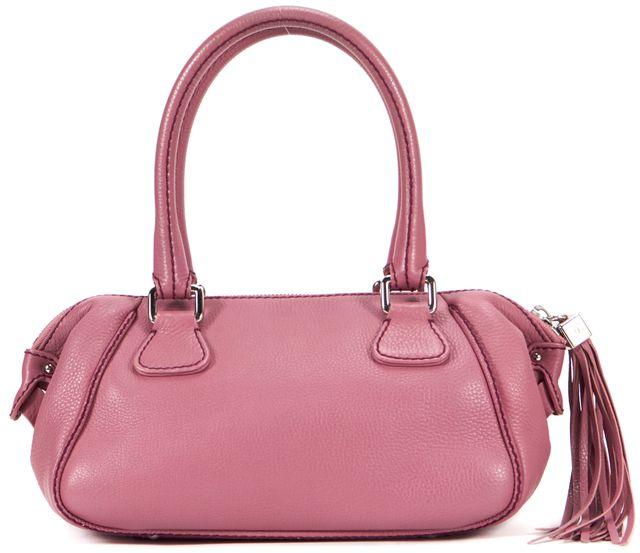 CHANEL Rose Pink Leather Lax Tassel Detail Satchel Bag
