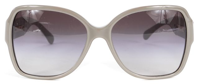 CHANEL Gray Acetate Frame Gray Gradient Lens CC Square Sunglasses