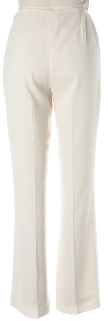 CHANEL Ivory High Rise Pleated Trouser Dress Pants