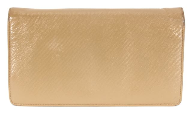 CHANEL Beige Leather Bifold Continental Wallet