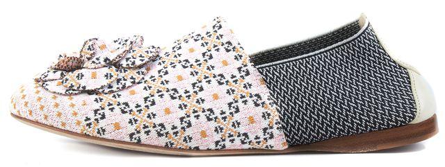 CHANEL Blue Pink White Floral Embellished Sneaker Slip-on Flats
