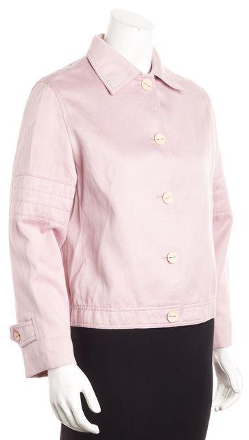 CHANEL Pink 5 Button Stitch Detail Sleeve Jean Jacket