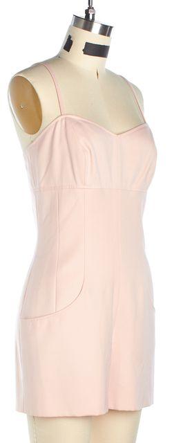 CHANEL Pink Spaghetti Strap Cotton Short Jumpsuit/ Romper