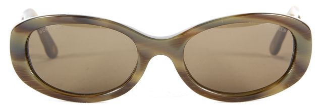 CHANEL Brown Tortoise Shell Acetate Oval Quilted Sunglasses