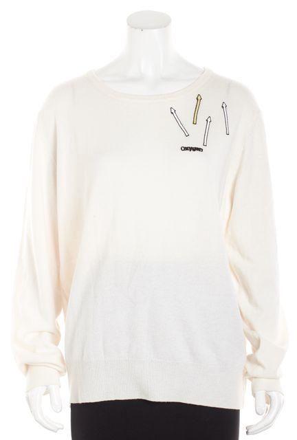 CHRISTOPHER KANE Ivory Cashmere Crewneck Sweater