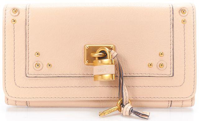 CHLOÉ Nude Leather Paddington Long Wallet w/ Box