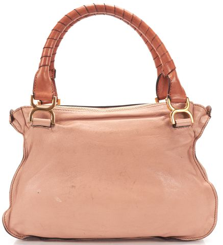 CHLOÉ CHLOÉ Salmon Pink Studded Leather Medium Marcie Shoulder Handbag