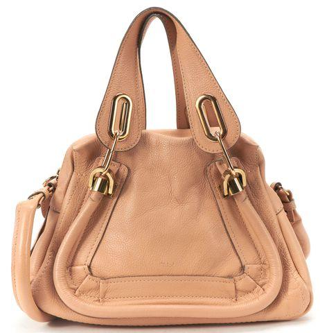 CHLOÉ CHLOÉ Nude Leather Small Paraty Satchel Handbag