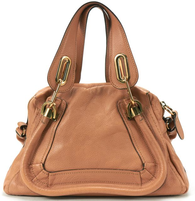 CHLOÉ CHLOÉ Tan Leather Small Paraty Satchel Handbag
