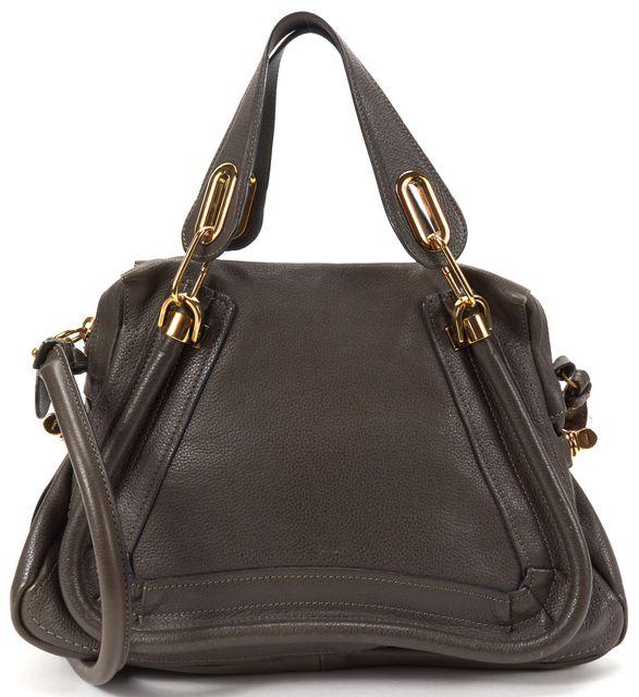 CHLOÉ CHLOÉ Brown Leather Medium Paraty Satchel Handbag