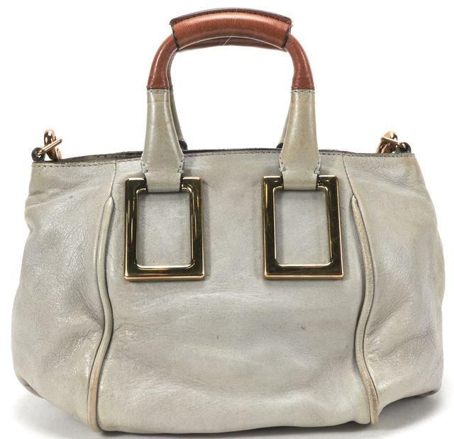 CHLOÉ CHLOÉ Gray Blue Leather Small Ethel Crossbody Handbag