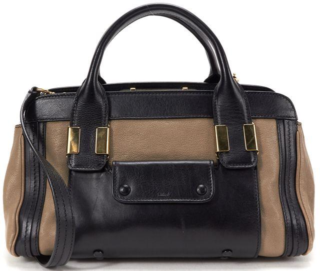 CHLOÉ CHLOÉ Black Brown Leather Medium Alice Satchel Handbag