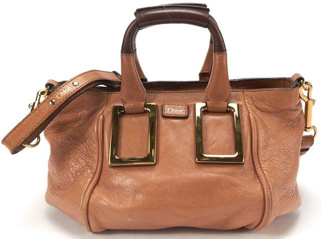CHLOÉ CHLOÉ Brown Leather Small Ethel Crossbody Handbag