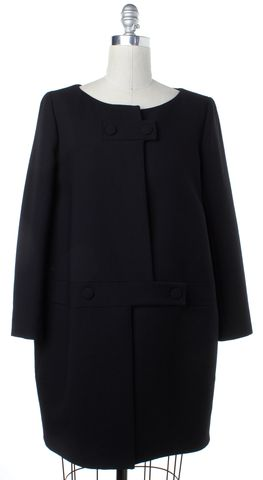 CHLOÉ Black Wool Double Breasted Peacoat Size 10 FR 42