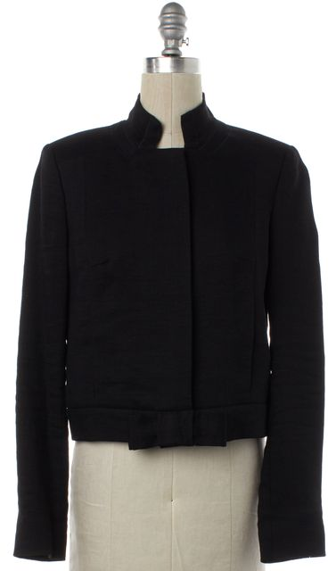CHLOÉ Black Linen Button Up Jacket