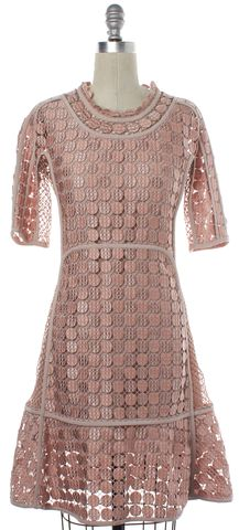 CHLOÉ CHLOÉ Dusty Pink Embroidered Lace Overlay Size 2