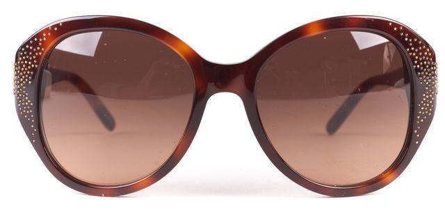 CHLOÉ CHLOÉ Brown Tortoiseshell Acetate Round Frame Sunglasses
