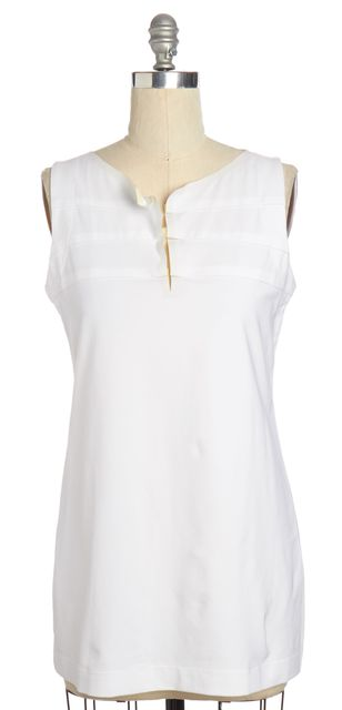 CHLOÉ CHLOÉ White Contrast Neck Line Shift Dress