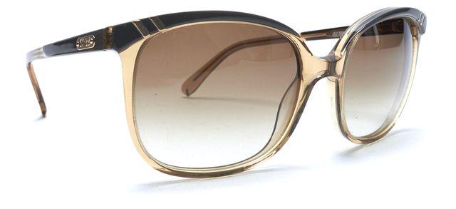 CHLOÉ Clear Brown Acetate Gradient Lens Square Sunglasses