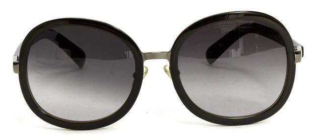 CHLOÉ Black Acetate Round Oversized Sunglasses w/ Case
