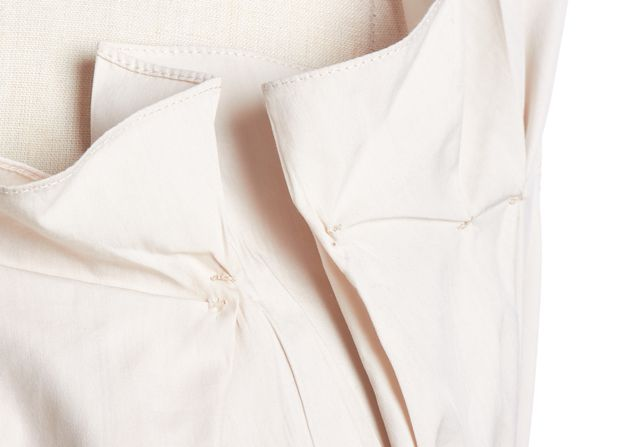 CHLOÉ Beige Relaxed Pleat Front Button Down Shirt Blouse Top