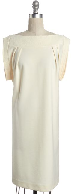 CHLOÉ Ivory Short Sleeve Shift Dress