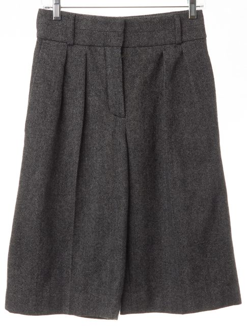 CHLOÉ Gray Tweed Gaucho Crop Dress Casual Flare Shorts