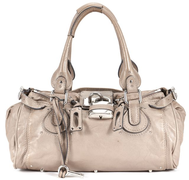 CHLOÉ Beige Pebbled Leather Paddington Shoulder Bag