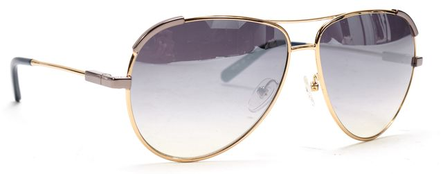 CHLOÉ Gold Metal Frame Mirrored Lens Aviator Sunglasses
