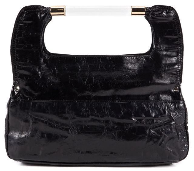 CHLOÉ Black Leather Top Handle Handbag