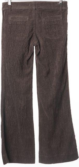 CHLOÉ Brown Cotton Flared Leg Corduroys Pants