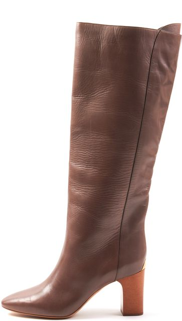 CHLOÉ CHLOÉ Brown Leather Knee-Hight Boots
